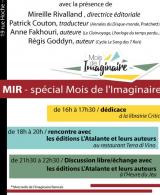 MIR spécial Mois de l'Imaginaire avec les éditions L'Atalante