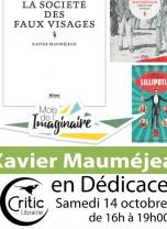 Mois de l'Imaginaire / Dédicace roman : Xavier Mauméjean