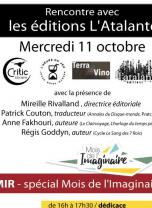 Mois de l'Imaginaire - Rencontre avec les éditions L'Atalante